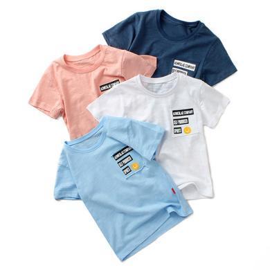 ocsco  男童短袖T恤夏季新款韩版童装儿童短袖T恤中大童宽松?#38041;?#19978;衣