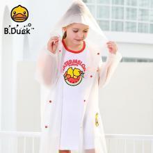 B.duck兒童雨衣新款幼兒園男童女童寶寶小孩透明雨披小學生中大童