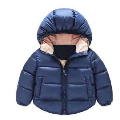 ocsco 男女童棉服冬季新款時尚連帽純色棉衣中小童棉襖外套外搭面包服