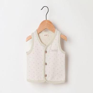 兒童棉馬甲秋冬彩棉提花馬甲韓版可愛印花童裝馬甲嬰幼兒保暖背心