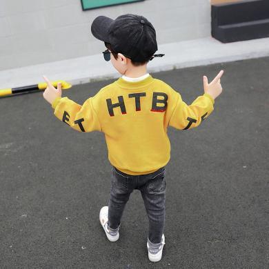 美純衣天使男童2019時尚男童夾克秋裝新品開衫中小童后背字母外套PWY-ZC后背HTB外套
