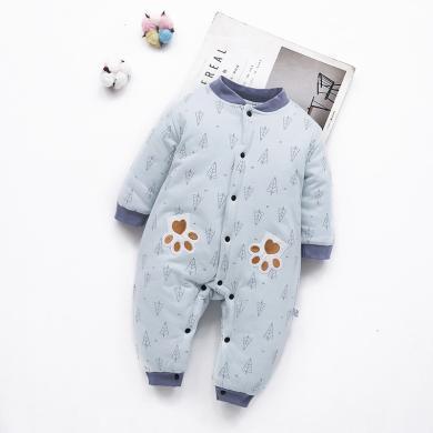 嬰兒連體衣 保暖加厚衣服 嬰幼兒寶寶服飾新生兒服裝