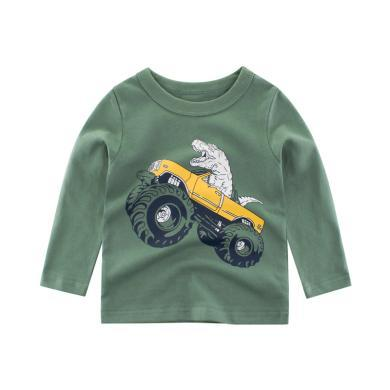 ocsco 童装T恤春秋装新款男童上衣3-8岁长袖打?#21672;?#20013;大童套头衫