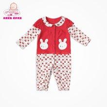 丑丑婴幼新生儿衣服宝宝哈衣爬服婴儿连体衣长袖前开哈衣 CGE065X