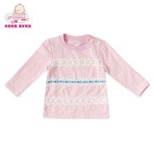 丑丑嬰幼春季新款1-3歲女寶寶卡通花邊女童長袖T恤外套