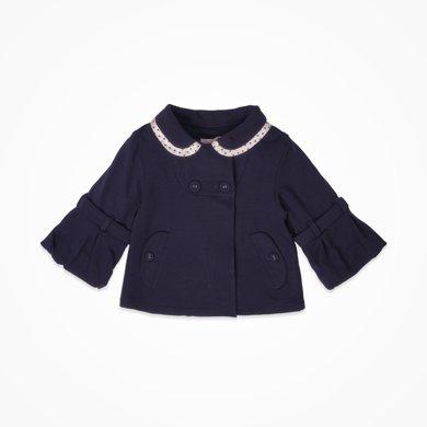 丑丑嬰幼 女童時尚外套秋冬裝女寶寶長袖翻領前開外套 CIE698X