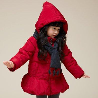 康衣兒女寶寶羽絨服中長款小童款女童冬季外套