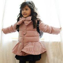 康衣儿品牌羽绒服中长款宝宝女童羽绒服小童款(背包非赠品)