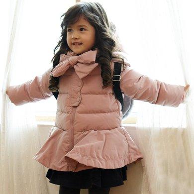 康衣兒品牌羽絨服中長款寶寶女童羽絨服小童款(背包非贈品)