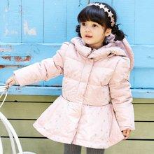 康衣儿女宝宝羽绒服中长款女童羽绒服中小童幼儿外套