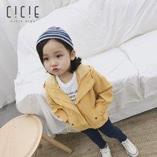 cicie 新款韓版 女童秋裝長袖兒童外套女童薄款連帽風衣 C18104