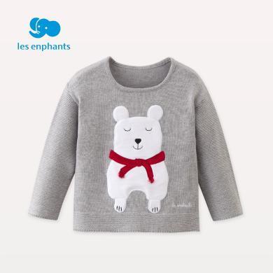 麗嬰房童裝男女童時尚卡通毛衣兒童柔軟舒適毛衣2018秋裝新款