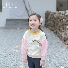 Cicie 2019春款童装新款韩版儿童春秋印花女童卫衣  c91050