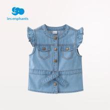 丽婴房童装女童时尚牛仔马甲儿童可爱休闲春装上衣2019新款