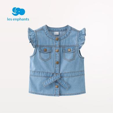 麗嬰房童裝女童時尚牛仔馬甲兒童可愛休閑春裝上衣2019新款