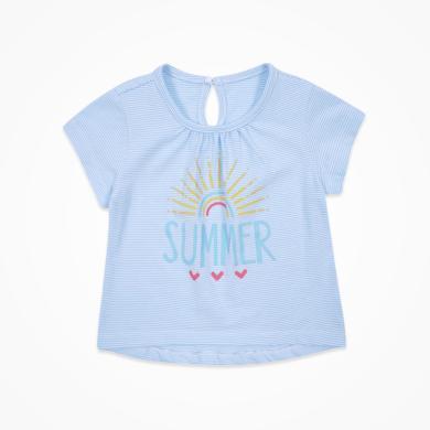 丑丑嬰幼 夏季新款女寶寶純棉彩色印花T恤1-4歲 CLE262X