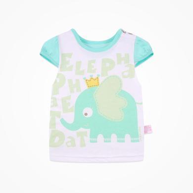 丑丑嬰幼 夏季女寶寶純棉短袖卡通T恤女童可愛動漫圓領上衣1-3歲 CFE257T