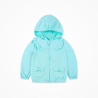 丑丑嬰幼 女寶寶前開拉鏈外套春秋季新款女童連帽外套1-4歲CIE659T