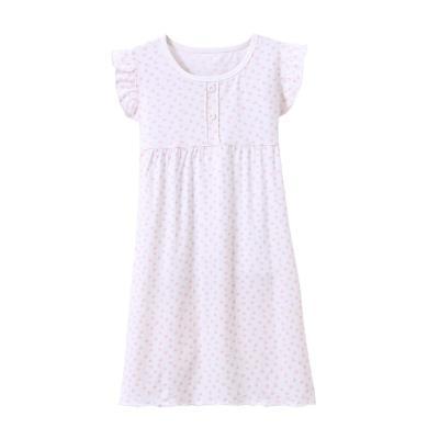 女童短袖睡裙夏棉質女寶寶公主裙子兒童家居服