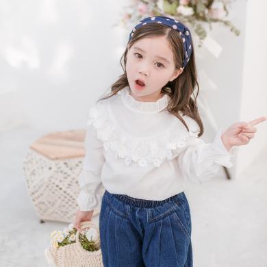 Cicie  2019春秋季新款兒童長袖襯衫韓版童裝寶寶衣服女童襯衣  C93019