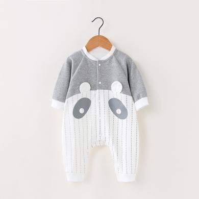 2019新款嬰兒衣服秋冬新款長袖嬰兒連體衣韓版卡通印花新生兒衣服