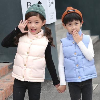 謎子 童裝馬甲冬季新款男童女童棉服加厚外套立領無袖背心棉衣
