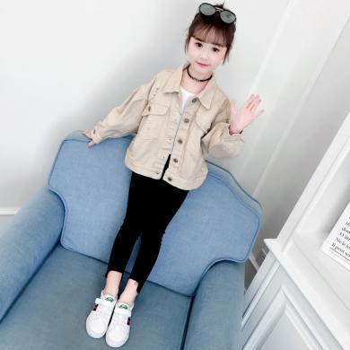 美純衣天使2019新款潮范女童秋裝夾克中大童亮鉆蝙蝠外套PWY-XP亮鉆外套