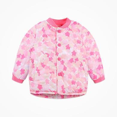 丑丑嬰幼 女寶寶冬季印花棉外套新款女童甜美保暖棉衣 COE667X