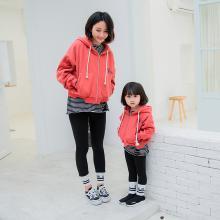 爸妈亲2018冬季童装加厚保暖家庭装连帽开衫儿童卫衣韩版亲子Ks2116
