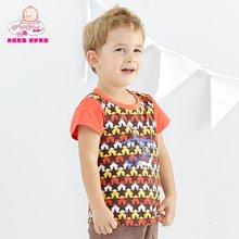丑丑嬰幼 新款男寶寶夏季時尚拼色T恤 (1歲半-5歲)