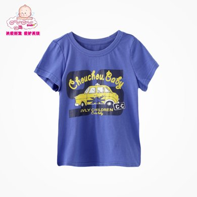丑丑嬰幼 夏季新款男寶寶休閑時尚圓領T恤  1-4歲