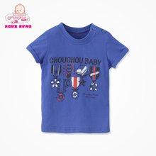 丑丑婴幼 夏季新款男宝宝圆领T恤 1-5岁 CFE233T