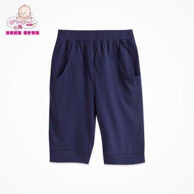 丑丑嬰幼 男童夏款休閑運動外穿褲 針織中褲夏裝 6個月-4歲 CFE112T