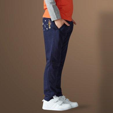 迪斯兔/disitu男童春款休閑褲兒童長褲中大童修身小腳收口運動褲子X2011