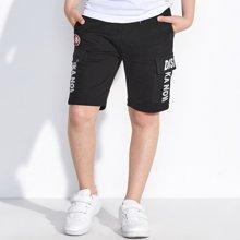 迪斯兔/disitu男童裤子夏季新款中大童运动短裤宽松纯棉中裤儿童休闲五分裤D2299