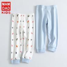 爸媽親兒童秋褲純棉兩條裝中小童褲子可開檔寶寶長褲A類89001