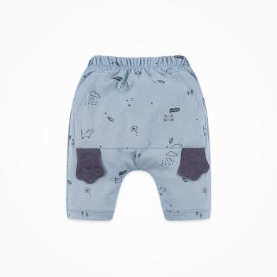 丑丑嬰幼 男童純棉時尚針織哈倫中褲夏季新款男寶寶卡通褲子1-3歲 CNE114X