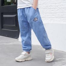 ocsco 春夏装新款男童牛仔裤中小儿童休闲时尚百搭薄款松紧腰长裤