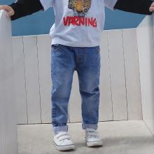 ocsco 男童裤春夏装新款男童牛仔裤时尚休闲简约中小儿童百搭童装长裤