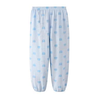 爸媽親兒童防蚊褲夏天薄款寶寶褲子燈籠褲男童竹節棉透氣兒童褲子96903 96905