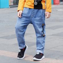 ocsco 春夏装新款童装宽松休闲男童牛仔裤时尚字母印花中小儿童长裤男
