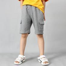 ocsco 童裤夏季新款宽松大口袋工装男女童五分裤休闲百搭学生儿童短裤