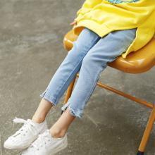诗茵女童牛仔裤2019春装新款童装韩版儿童牛仔裤修身长裤子80291