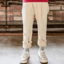 诗茵新款纯色简约直筒休闲女童长裤子中大儿童韩版童装亲子服装80801