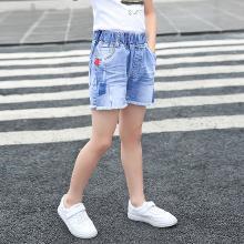 ocsco 女童牛仔裤短裤夏季新款时尚毛边百搭休闲中小童装短裤女