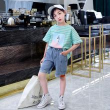 瀾囝囡 2019夏季新款韓版夏裝兒童洋氣褲子中大童女孩中褲  桔標口袋褲