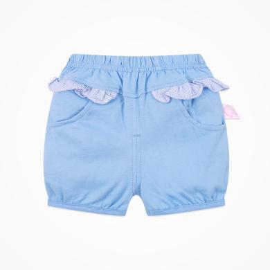 丑丑婴幼 女宝宝纯棉针织短裤女童时尚百搭短裤6个月-3岁 CHE152T