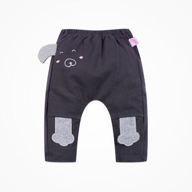 丑丑嬰幼 男寶寶卡通哈倫長褲春秋款男童可愛針織長褲6個月-3歲 CKE049T