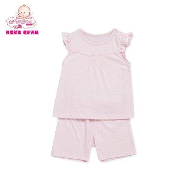 丑丑婴幼 夏季新款男女宝宝背心套装纯棉内衣家居服套装1-3岁 CHD711X