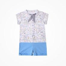 丑丑婴幼 夏季新款男童休闲外出短袖套装男宝宝衬衫套装CJE715X